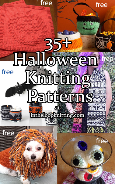 halloween knitting patterns knitting patterns for halloween decorations and costumes most patterns are free