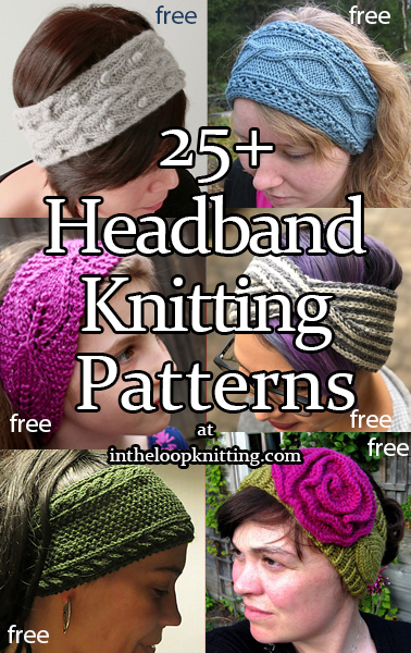 Headband and Headwrap Knitting Patterns. Knitting patterns for head bands, ear warmers, head wraps, and head scarves to keep you warm, fashionable, with minimal mussing of your hair style. Great for quick gifts, stocking stuffers, and stash yarn!Most patterns are free.