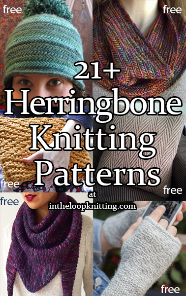 Herringbone Knitting Patterns. A variety of projects using different types of herringbone inspired knitting stitches. Most patterns are free.