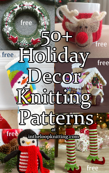 Holiday Decor Knitting Patterns
