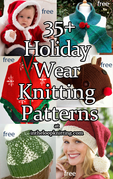 165c3e53127 Holiday Wear Knitting Patterns. Knitting patterns for Christmas and other  seasonal hats