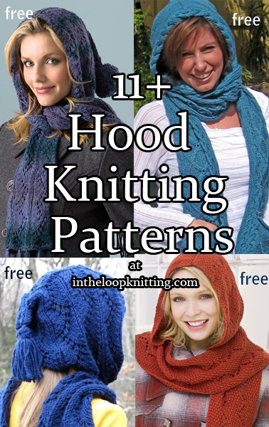 9642bc46692839   Hood Knitting Patterns. Knitting projects for cozy hoods