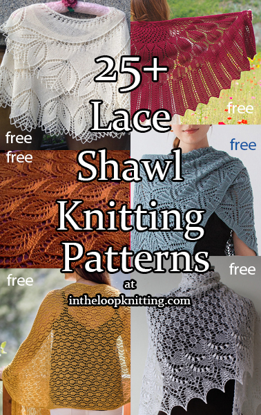 Lace Shawl and Wrap Knitting Patterns. If you thought of lace shawls as only delicate wisps, take a look at some of these free knitting patterns for shawls and wraps in cotton yarn, bulky yarn, and worsted yarn. And, there are delicate lace shawls here, too!