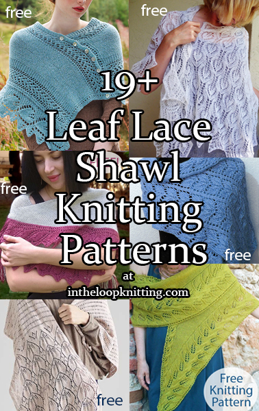 Leaf Lace Shawl and Scarf Knitting Patterns. Knitting patterns for wraps and scarfs with leaf designs. Many of the patterns are free.