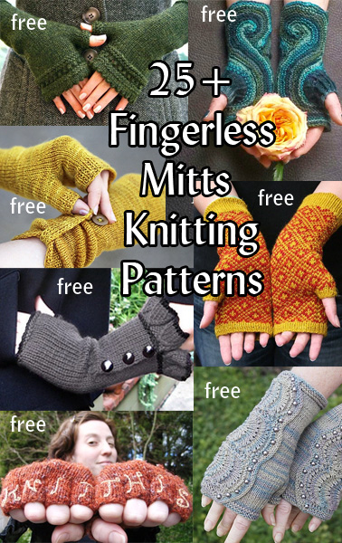 Fingerless Mitts and Gloves. Romantic, dramatic, cozy, practical! These fingerless mitt patterns are great for keeping hands warm, fashionable, and free for texting! Plus they make unique but quick gifts. Most patterns for free.