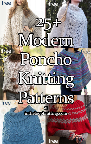 Aran Cabled Poncho Variety of Stitches /& Cables ~ One Size  Knitting Pattern