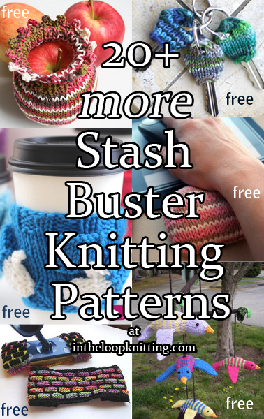 More Stash Buster Knitting Patterns. We knitters hate to throw away yarn so our stash is full of leftover oddballs and scraps of yarn too small for most projects. Here are some clever stash busting ideas to de-stash those yarn remnants. These make great quick gifts, too!