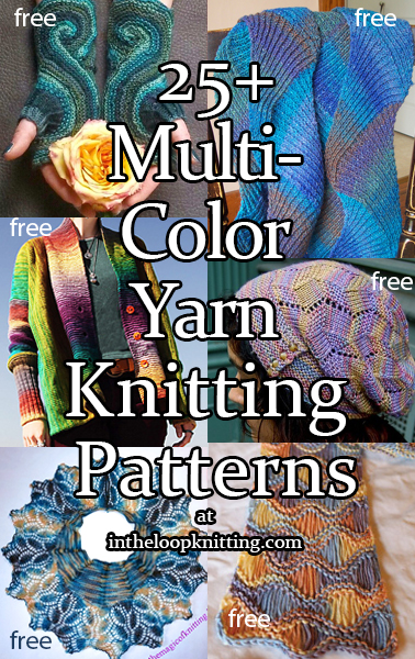 Multi-colored Yarn Knitting Patterns. I love multi-colored yarn but have trouble finding good patterns that will show off the color variation to advantage without overwhelming the stitch pattern. The free knitting patterns below are great for for ombre, variegated or self-striping yarns.
