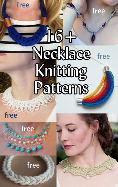 Necklace And Collar Knitting Patterns In The Loop Knitting