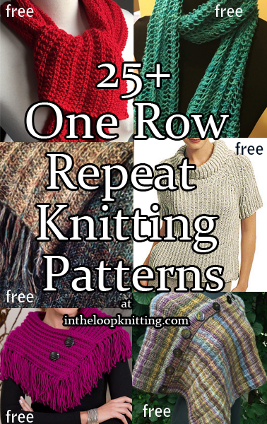 One Row Repeat Knitting Patterns