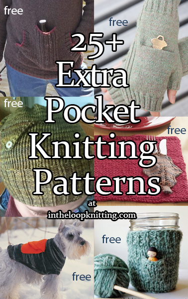 Extra Pocket Knitting Patterns. Who couldn't use an extra pocket? These accessories, home decor, and more give you extra pockets to carry or keep the necessities. Many of the patterns are free.