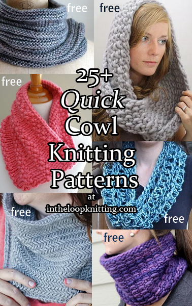Spring and Summer Cowl Knitting Patterns- In the Loop Knitting