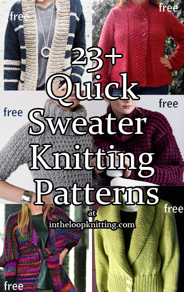 e065ebe50d3e   Quick Sweater Knitting Patterns. Quick patterns for cardigans and  pullovers using chunky or super bulky