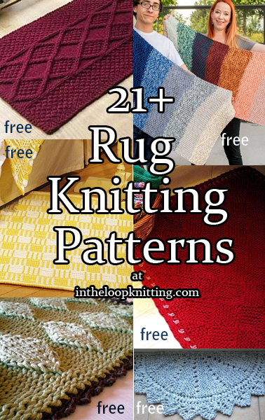 Knitting Patterns for Rugs and Mats. Most patterns are free.