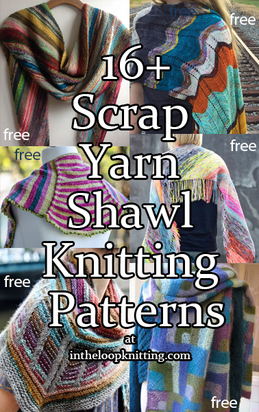 Stash Yarn ShawlKnitting Patterns
