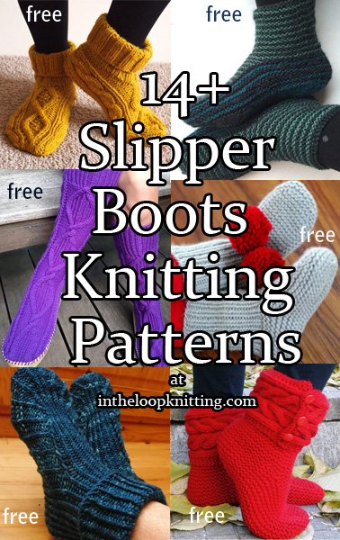 Slipper Socks And Boots Knitting Knitting Patterns In The Loop