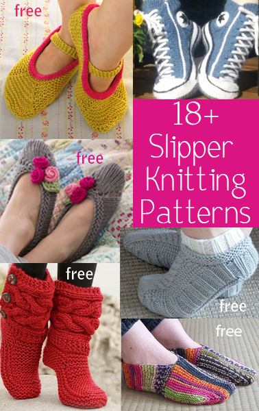 b0e15db0cb1 Slipper Knitting Patterns - In the Loop Knitting