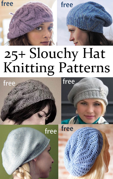 63abb4f4b12 Slouchy Hat Knitting Patterns - In the Loop Knitting