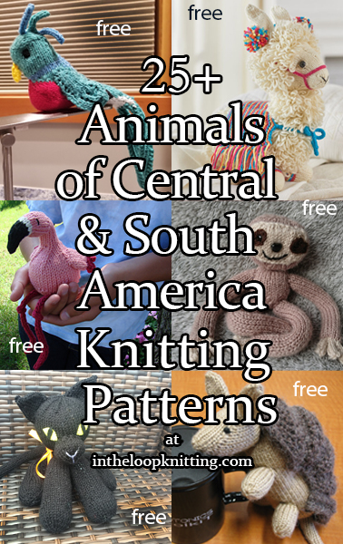 Knitting patterns for toys and other projects inspired by animals and birds native to Central and South America. Most patterns are free.
