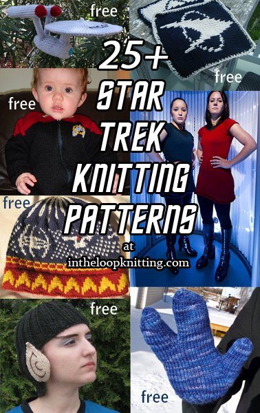 Trek Inspired Knitting Patterns. Knitting projects inspired by Star Trek series, movies, characters, and more. Most patterns are free.