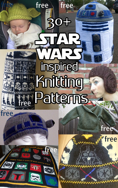 Star Wars Knitting Patterns. Knitting patterns for science fiction movie fans. Most patterns are free.