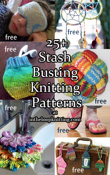 Stash Buster Knitting Patterns. We knitters hate to throw away yarn so our stash is full of leftover oddballs and scraps of yarn too small for most projects. Here are some clever stash busting ideas to de-stash those yarn remnants. These make great quick gifts, too!
