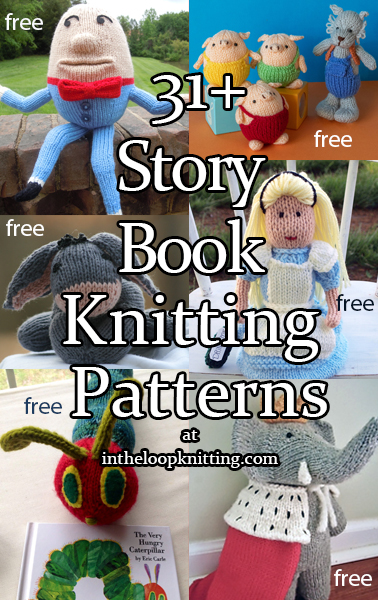 Fairy Tale and Storybook Knitting Patterns. Knitting patterns inspired by fairy tales, nursery rhymes, and beloved children's books. Includes, toys, clothes, costumes, and more. Most patterns are free.