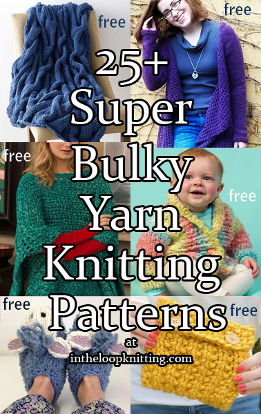 Super Bulky Yarn Knitting Patterns In The Loop Knitting