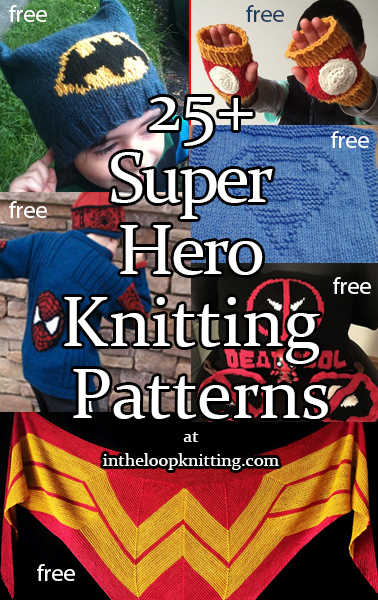 762d4a68c32 Super Hero Knitting Patterns - Projects inspired by heroes of comics