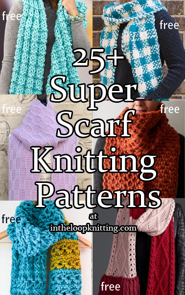 Super Scarf Knitting Patterns. Oversized, giant super scarves to make a statement and keep you warm.