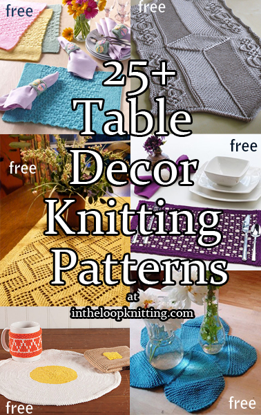 Table Decor Knitting Patterns