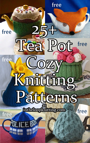 Teapot Cozy Knitting Patterns. Tea pot cozies to keep your tea stylish and hot in fanciful, fashionable or traditional designs. Most patterns are free.