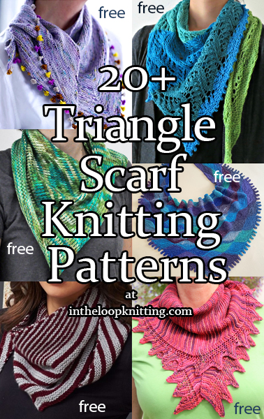 Triangle Scarf Knitting Patterns In The Loop Knitting