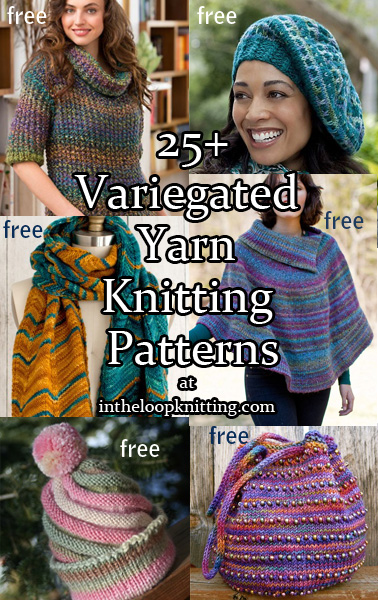 Variegated Yarn Knitting Patterns. Knitting patterns for multi-color, variegated, ombre, and self-striping yarn.