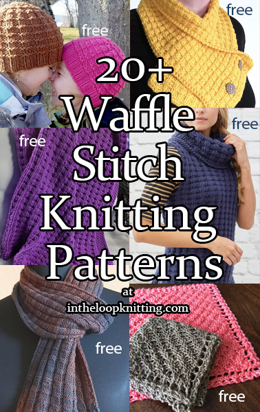 914e05a47 Waffle Stitch Knitting Patterns. Knitting patterns using variations of the  4-row repeat waffle