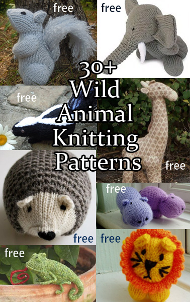 f9f4146adf2 Wild Animal Knitting Patterns. Knitting patterns for wild animals from  forest to jungle
