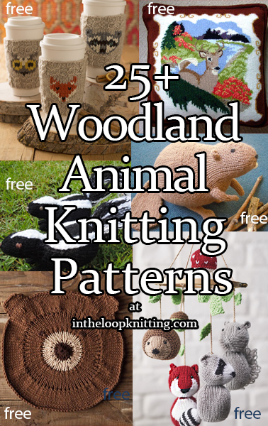 Woodland Animal Knitting Patterns. Toys, cloths, hats, pillows and other knitting projects featuring forest animals like deer, squirrels, foxes, moose, and more. Most patterns are free.Most patterns are free.