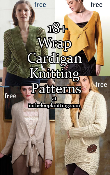 Wrap Cardigan Knitting Patterns. These knitting patterns for cardigans are wrapped in many stylish and flattering ways with asymmetric fronts, pleating, ties, and more. Most patterns are free.
