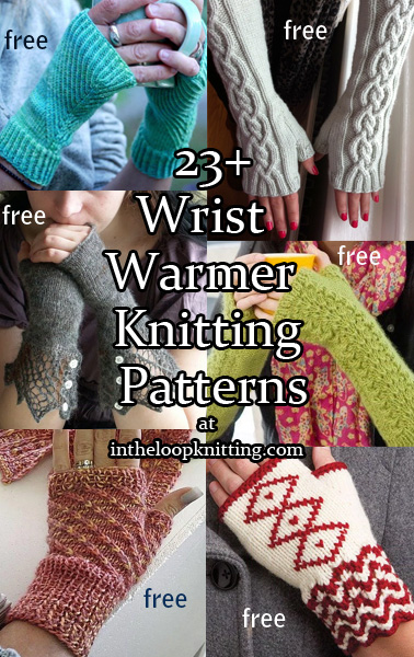 Wrist and Hand Warmer Knitting Patterns. Whether you call them wristwarmers, fingerless mitts, fingerless gloves, handwarmers, or armwarmers, these are fast, fun projects and make great gifts. Most patterns for free.