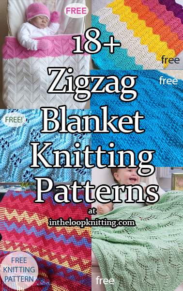 Zigzag Blanket Knitting Patterns. Knitting patterns for baby blankets and throws knit with chevron, zigzag, and wavy designs. Most patterns are free.