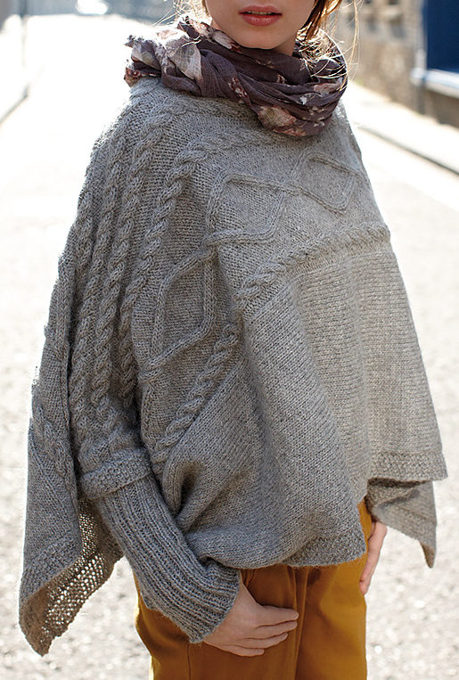 Free Knitting Pattern for Madison Poncho