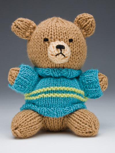 Knitting Pattern for Teddy Bear with Sweater