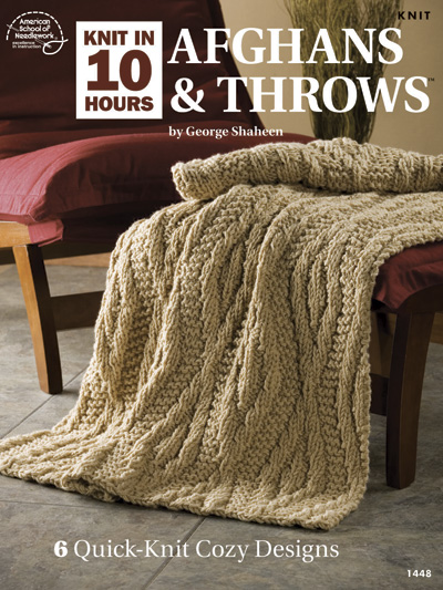 10 Hour Afghans and Throws Knitting Patterns