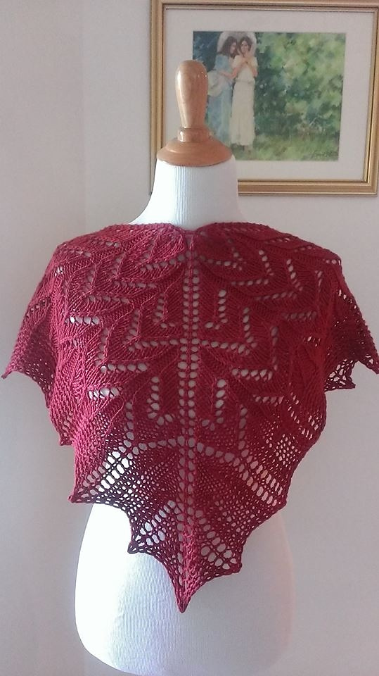 Free Knitting Pattern for One Skein 198 yds. of Heaven Shawl