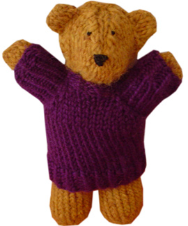 Two Hour Teddy Bear Free Knitting Pattern | Favorite Bear Knitting Patterns including Teddy Bears, Paddington Bear, Koala Bear - many free patterns