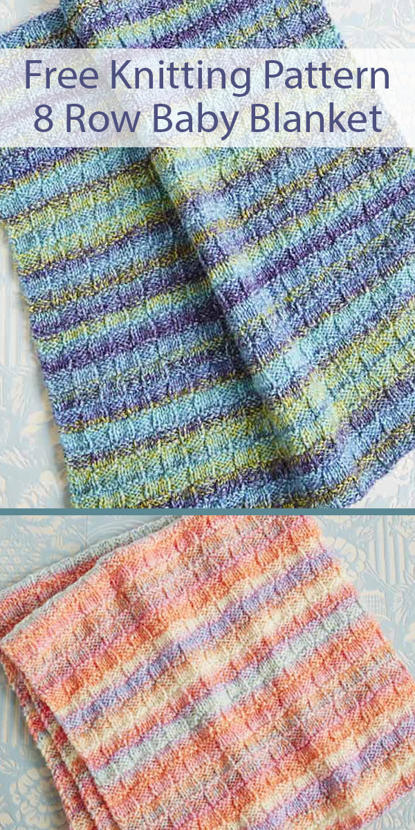 Free Knitting Pattern for Easy Basketweave Baby Blanket in 8 Row Repeat
