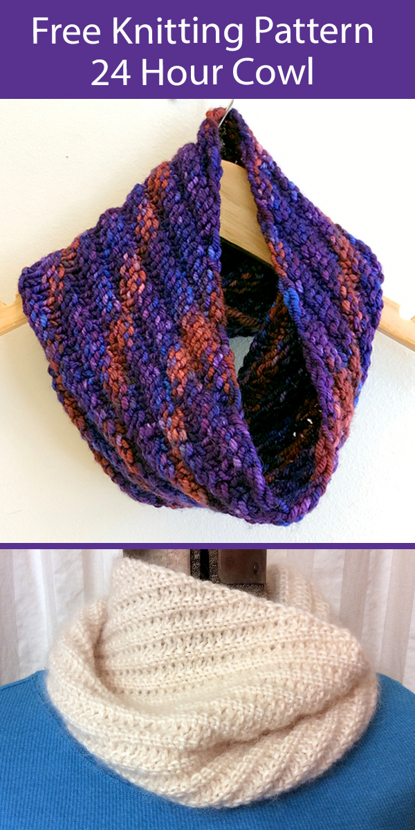 Free Cowl Knitting Pattern 24 Hour Cowl