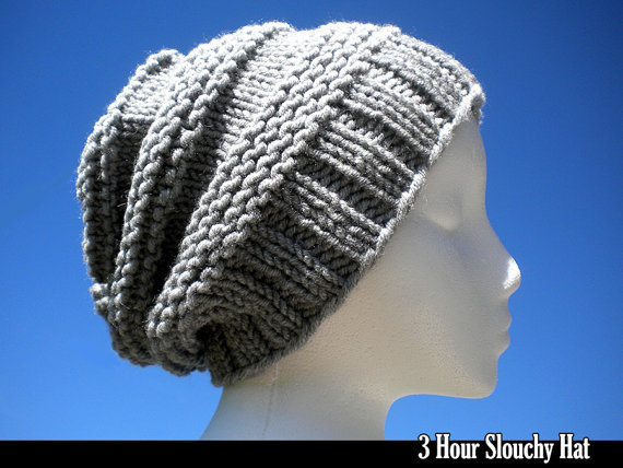 Knitting pattern for 3 Hour Slouch Hat and more weekend knitting patterns