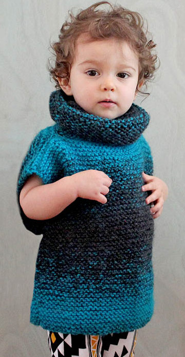 Free Knitting Pattern for Easy 3 Square Child's Sweater