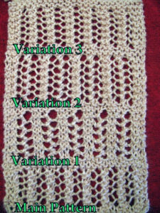 4 Variations One-Row Repeat Lace Knitting Stitch Patterns
